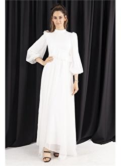 Belamore  Ekru İşleme Detaylı Abiye&Mezuniyet Elbisesi 6502293.147